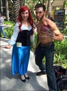 Ariel cosplay at Wondercon 2015 with the wonder LonsterMash